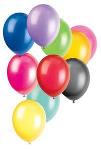 10 Luftballons bunt sortiert