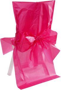 10 Stuhl Hussen Satin Pink Magenta – Bild 1