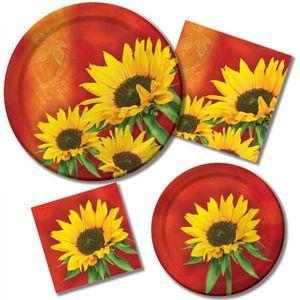 16 Servietten Sonnenblume