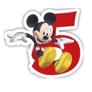 Micky Zahlenkerze 5