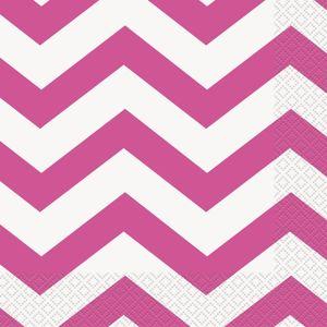 16 Servietten ZickZack Pink