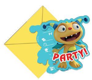 6 Henry Knuddelmonster Einladungskarten