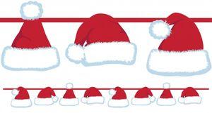 Girlande mit Weihnachtsmann Mützen