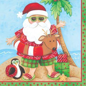 18 Weihnachts Servietten Relaxing Santa  – Bild 1