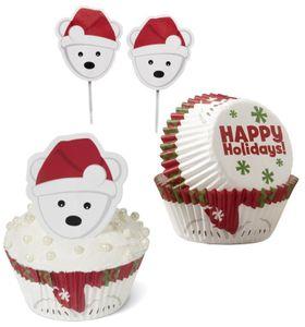 48 Teile Weihnachts Muffin Deko Set Eisbär