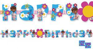 Personalisierbare Geburtstags Girlande Doc McStuffins