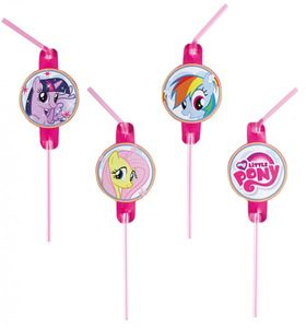 8 Trinkhalme My little Pony Rainbow