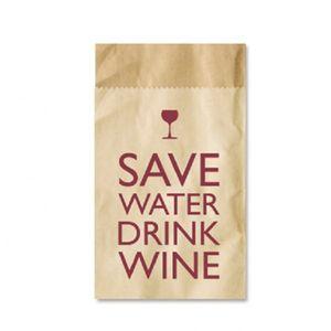 Save Water - 4 Bestecktaschen aus Packpapier