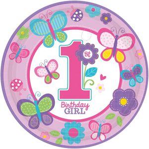8 Teller Erster Geburtstag Sweet Girl