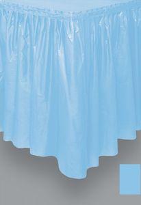 Plastik Tischrock Hellblau
