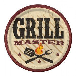 8 kleine Papp Teller Grill Meister