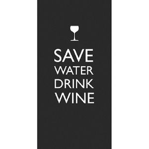 Save Water Black - 10 Bistro Servietten