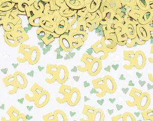 50 Deko Konfetti Goldene Hochzeit