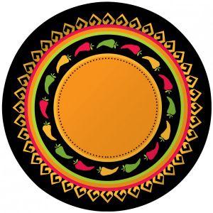 8 Teller Scharfe Chili Fiesta