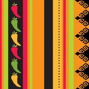 16 kleine Servietten Scharfe Chili Fiesta