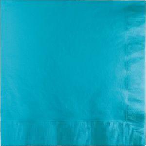 50 Servietten Bermuda Blau