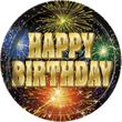 8 Teller Happy Birthday Feuerwerk