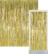 Glitzer Fransen Party Vorhang in Gold Metallic - Fotobox 2,4 Meter lang