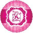 Folien Ballon Perfectly Pink zum 50. Geburtstag