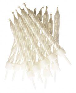 12 kleine Kuchen Kerzen Weiß
