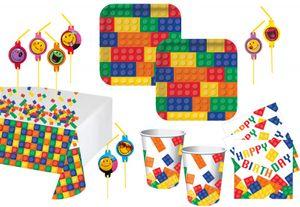68 Teile Bausteine Party Set für 16 Kinder – Bild 1