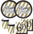 16 Servietten 60. Geburtstag Black and Gold