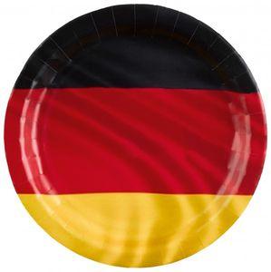 8 Papp Teller Deutschland Flagge