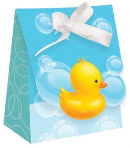 12 kleine Geschenk Tütchen Baby Shower Entchen