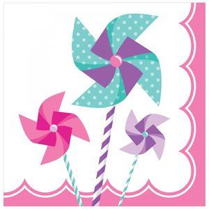 16 Servietten Windrad Pink