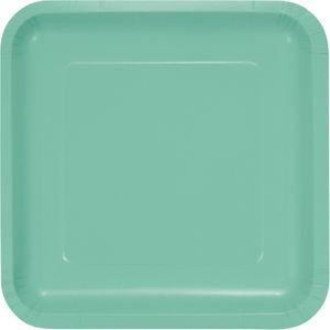18 quadratische Papp Teller Mint