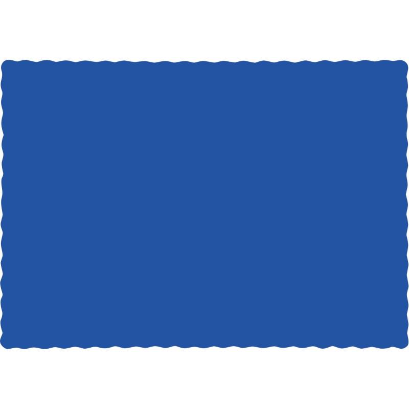 50 tischsets aus papier in cobalt blau. Black Bedroom Furniture Sets. Home Design Ideas