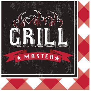 16 Servietten Grill Meister