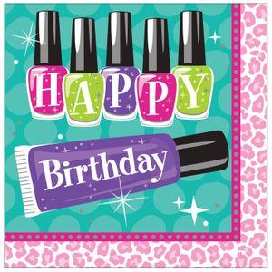 16 Geburtstags Servietten Beauty Spa Topmodel