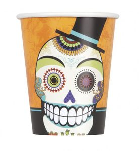 8 Halloween Becher Day of Dead