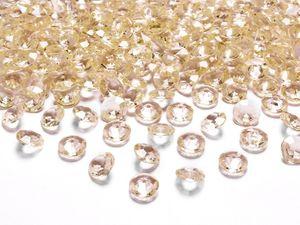 30g kleine Deko Plastik Diamanten orange-gold - 12 mm Durchmesser - etwa 100 Stk.