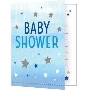 8 Einladungskarten zum Babyshower blinke kleiner Stern in Blau – Bild 1