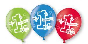 6 Luftballons Erster Geburtstag Alles an Bord