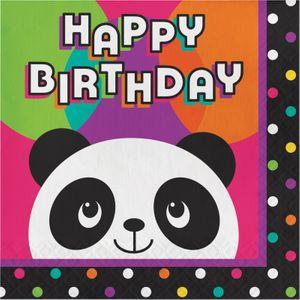 16 Geburtstags Servietten Pink Panda Bär