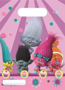6 Party Tüten Trolls – Bild 1