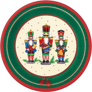 8 weihnachtliche Papp Teller Nussknacker
