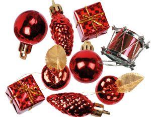 kleines Weihnachtspotpurri Set 14 Stück in Rot