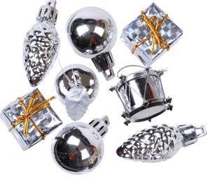 kleines Weihnachtspotpurri Set 14 Stück in Silber