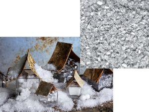 Weißer Deko Schnee mit Silber Glitzer  – Bild 1