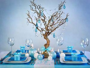 10 Karton Boxen hellblau für die Tischdeko, Gastgeschenke – Bild 3