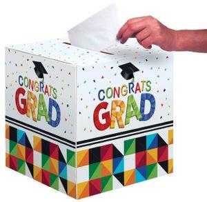 Abi Examen Glückwunsch Karten Box bunte Fraktals
