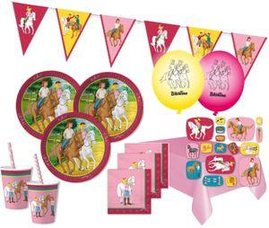 XXL 83 Teile Bibi und Tina Party Deko Set - für 16 Kinder Geburtstag – Bild 1