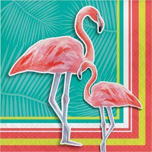 16 Servietten Flamingo Island
