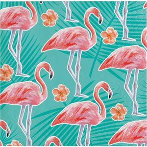 16 kleine Servietten Flamingo Island – Bild 1