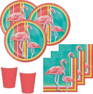 48 Teile Flamingo Island Party Deko Set Sommer Party 16 Personen – Bild 1