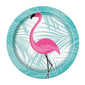 8 kleine Teller Pink Flamingo